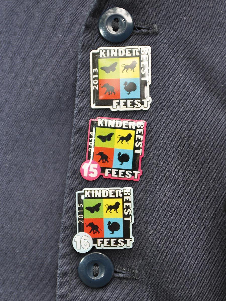 Badges op jas